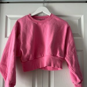 TNA perfect crew neck cropped sweater